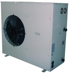 Eco Airpump ECO7 air source heat pump powder coated